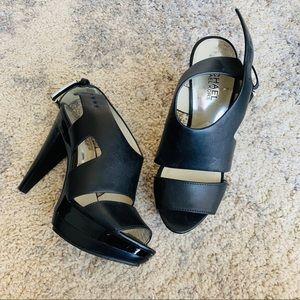 MICHAEL Michael Kors | Black Leather Heels | 5M